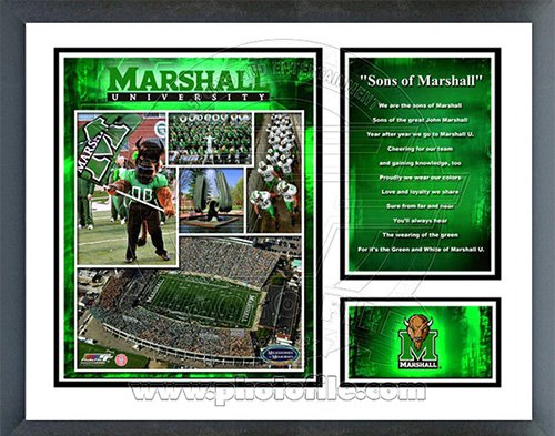 Marshall University Thundering Herd NCAA Framed Photograph Milestone Collage