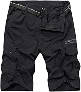 CRYYU Men's Pants Quick Dry Multi Pocket Casual Cargo Short Athletic Short