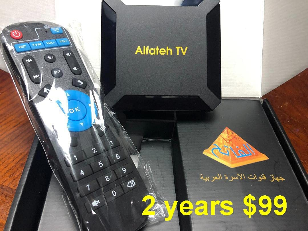 Best Arabic TV Box in USA with 2 Years of Services on it WiFi PVR CAST FAV USB Multi Media Player Android 10 Renewable الفاتح افضل جهاز قنوات عربية فى امريكا عامين