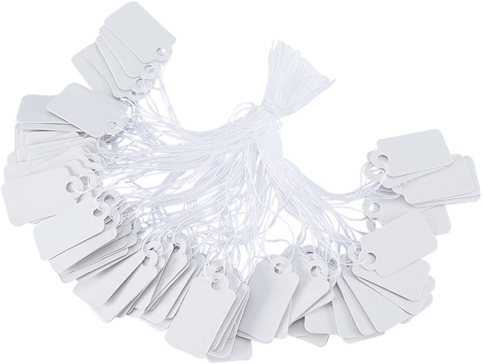 NBEADS Price New York Mall Tags 500 PCS String Marking Rectangular White Now on sale