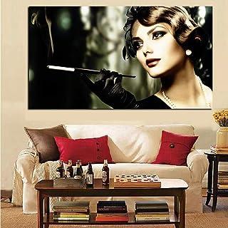 Diamantmålning efter nummer kit Audrey Hepburn Smokes, DIY 5D diamant konst full borr kristall strass vuxna/barn kanvas ko...