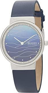 Skagen Annelie Women's Mother Of Pearl Dial Leather Analog Watch - SKW2903