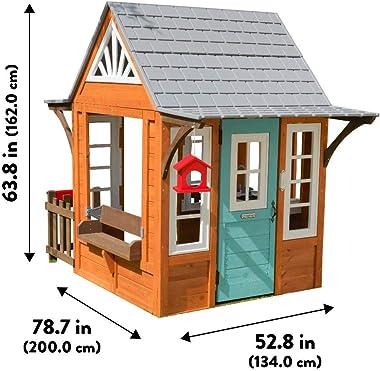KidKraft 10179 Prairieview Wooden Outdoor Playhouse