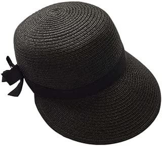 Duck Tongue Cap Straw Sun Visor Sun Hat Ladies Fashion Girls Summer Hat(Black)