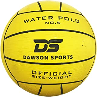 DAWSON SPORTS Unisex Adult 26004 Water Polo Balls Yellow Color - Size 5 26004 - Yellow, 5
