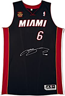 lowest price ad262 19bb8 LEBRON JAMES SIGNED 2013 MIAMI HEAT NBA FINALS MVP PATCH AUTHENTIC JERSEY  UDA