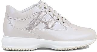 Hogan Interactive HXW00N0S361MYU0QWA Scarpe da Donna Sneakers Running Sportive in Pelle Rosa Cipria Comode Casual Comfort ...