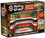 Spicy Shelf Deluxe - Expandable Spice Rack and Stackable Cabinet & Pantry Organizer (1 Set of 2...