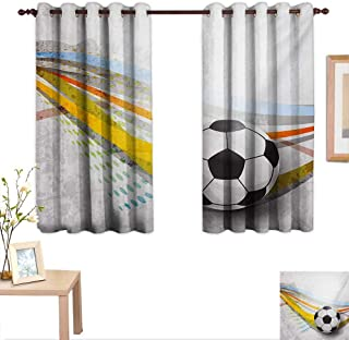 9728abab Amazon.com: football curtain rod