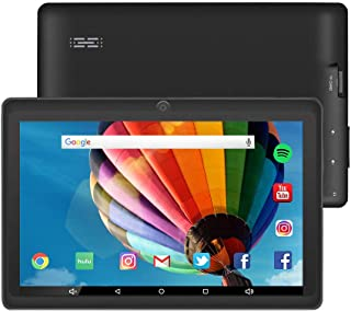 7 inch Tablet Google Android 8.0 Quad Core 1024x600 Dual Camera Wi-Fi Bluetooth 1GB/8GB Play Store Netfilix Skype 3D Game Supported GMS Certified (Black)