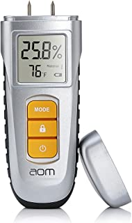 Wood Moisture Meter, Digital Moisture Detector Moisture Tester, Water Leak Detector, Pin Type, Damp Tester Dampness Meter with 6 Modes for Wood Building Material Firewood Walls Paper Floor (Silver)