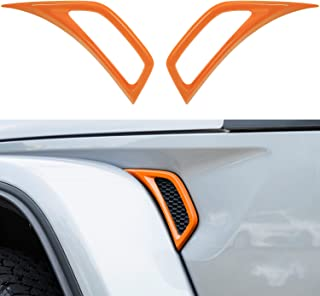 2Pcs Air Conditioner Outlet Vent Trim Cover for Jeep Wrangler JL JLU & Gladiator JT 2018-2021 Orange