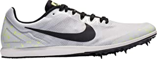 Nike Men's Zoom Rival D 10 Track and Field Shoes(White/Black/Volt,12,D (M) US)