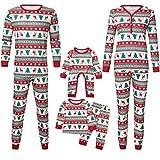 Familien Pyjama Schlafanzug Weihnachten Eltern-Kind Familie Set Mama Dad Christmas Outfit Baby Kid Weihnachtsoutfit Nachtwäsche Baby Cartoon Hirsch Schneeflocke Print Roben