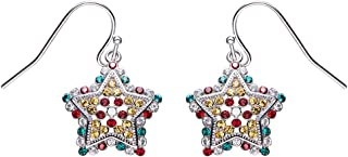 Bethlehem Star Sparkling Jewelry Earrings Made with Swarovski Crystals Holidy Prevent allergies For Festival Gift