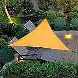 三角オーニングサンシェルターキャノピー日焼け止めセイルシェード90%UVブロック付き3 2Mロープ用屋外ガーデンパティオパーティー、3×3M(オレンジ)
