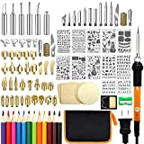 110 PCS Wood Burning Kit, Wood Tool with Adjustable On-Off Switch Control...