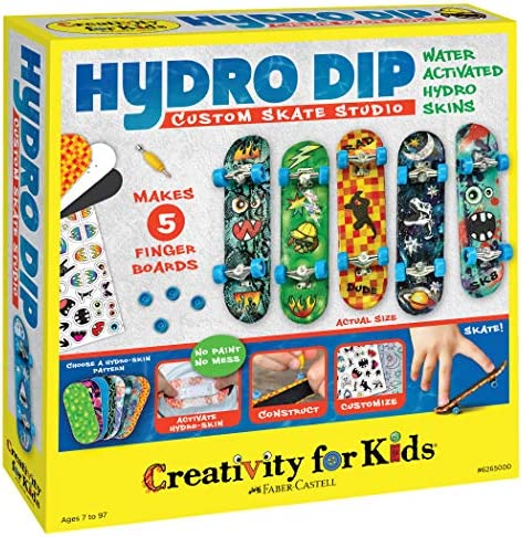 Creativity for Kids Hydro Dip Custom Skate Studio Mini Finger Skateboards for Kids Customize product image