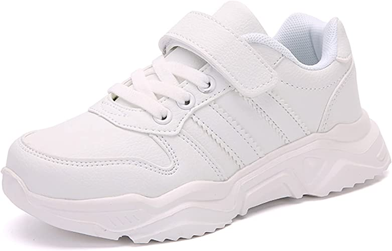 DVTENI Unisex-Child White Boys Girls Shoes Antiskid Tennis Sneakers Outdoor Casual Kids Shoes Running Shoes(Toddler/Little Kid/Big Kid)