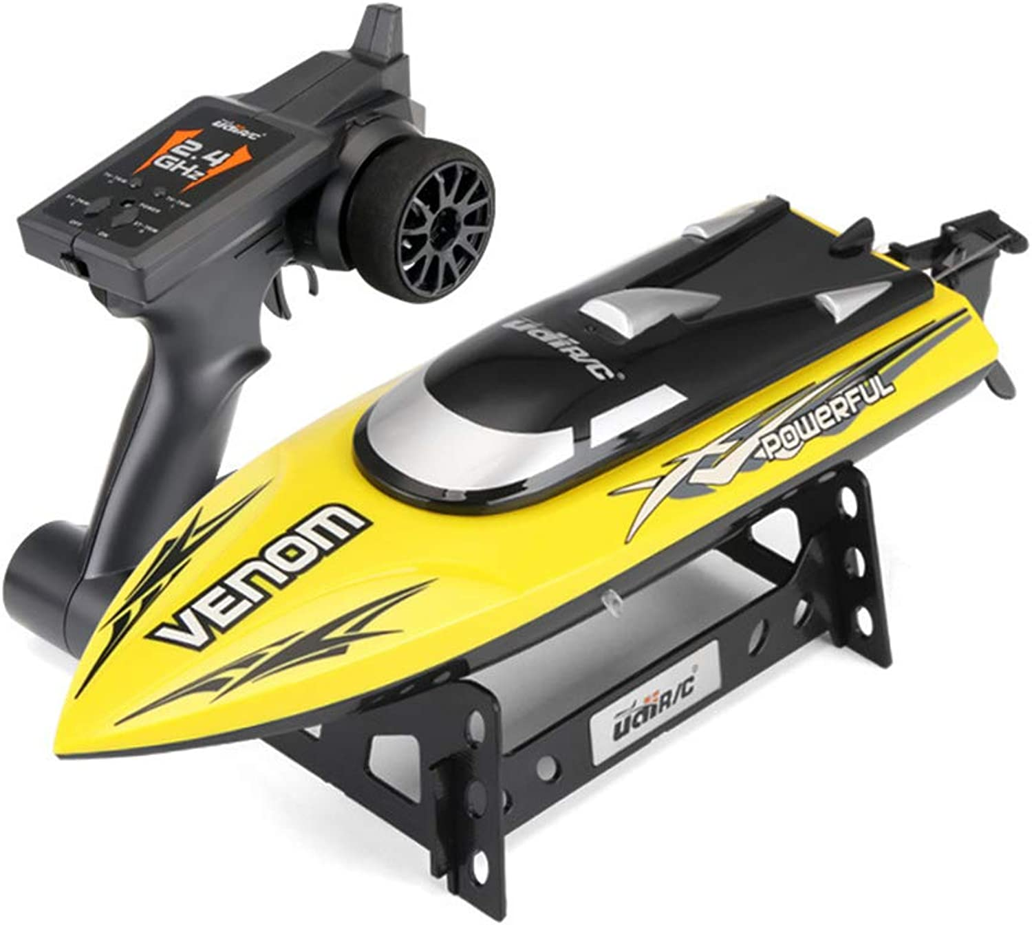 Ledu Mini remote control boat, 2.4G speedboat water toy nautical model boy competition, charging, suitable for summer beach pond