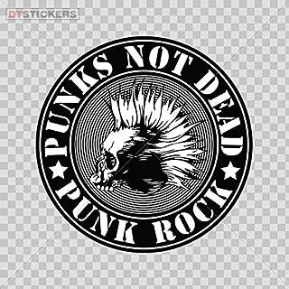 Decal Punks Not Dead Rock Music Symbol Skull Car Window Jet Ski D217 266SE