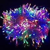 LIFEIYAN Luces De Cadena LED Luces De Hadas 8 Modos De Iluminación Halloween Navidad String Lights con Transformador Día Decorativo Al Aire Libre Interior De Jardín Estelar Las Luces del Adorno