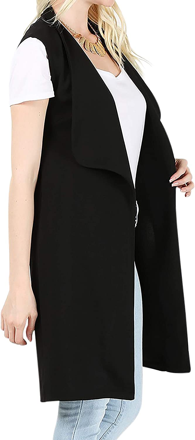 BNY Corner Women Sleeveless Long Cardigan Open Front Casual Vest Cover Up M-3X