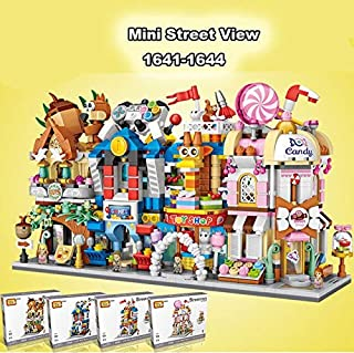 EAGLE FLY-Blocks - LOZ Candy House Nut Shop Game Toy store Architecture Model Mini Building Blocks City Series Street View...