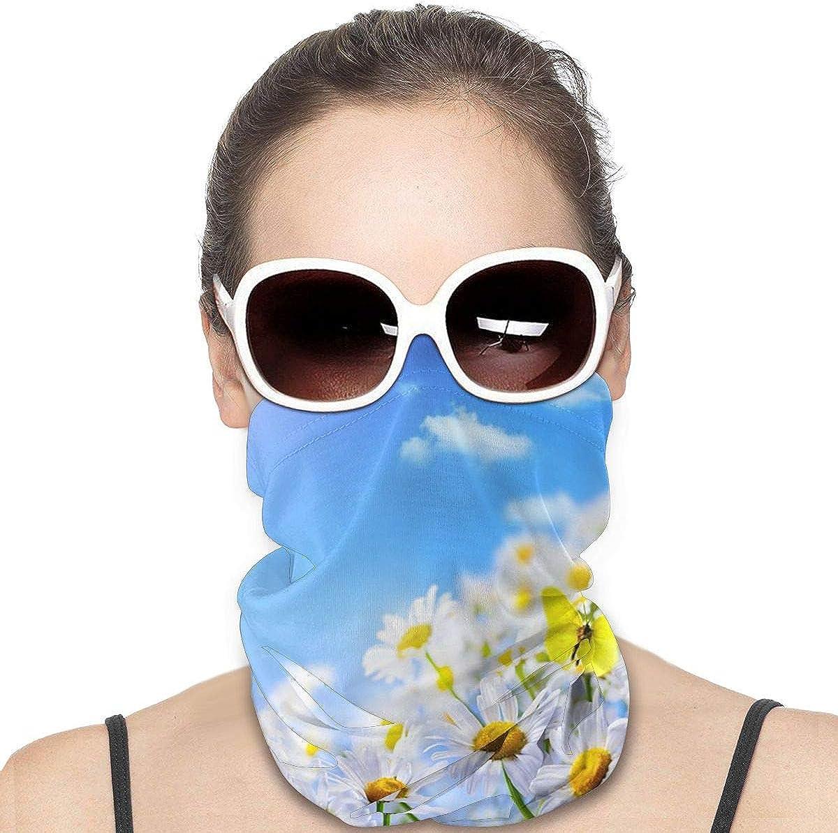 KiuLoam Women Bandanas Face Mask, Sunflower in the Sky Neck Gaiter Mask Headband for Men Face Scarf Dust, Outdoors, Sports