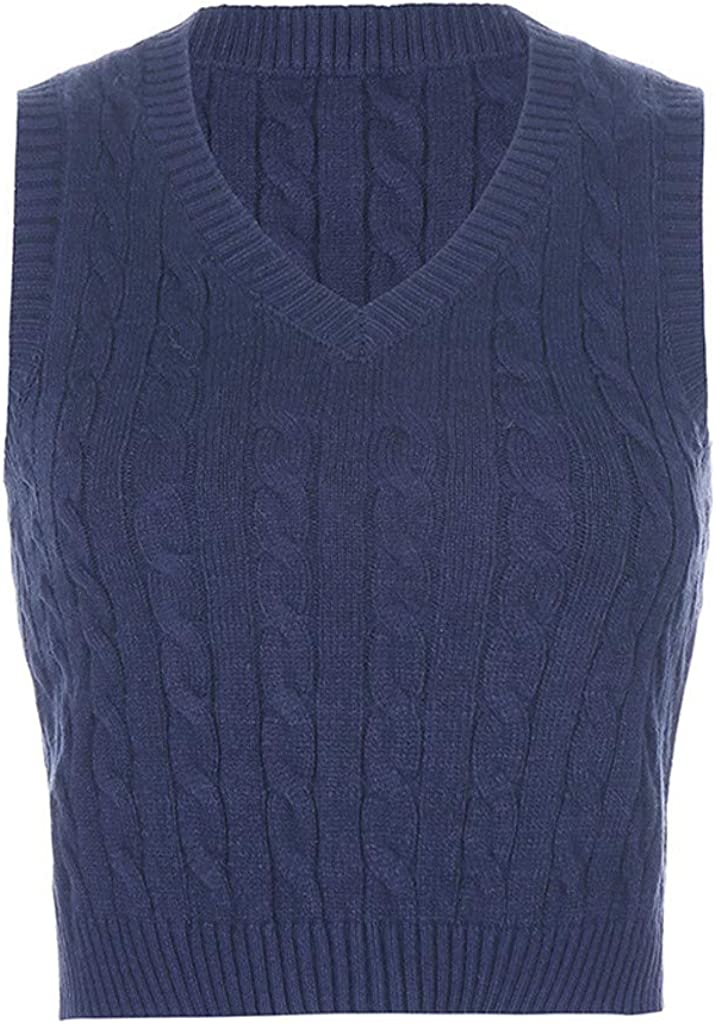 Credence Mimacoo 5% OFF Plaid Knitted Tank for V Sleeveless Ladies Short Sweater
