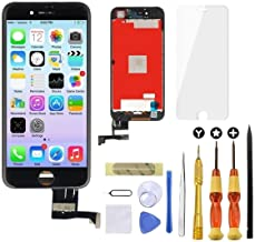 Goldwangwang iPhone 7 Screen Replacement Black,4.7inch 3D Touch LCD Screen Digitizer Replacement Fully Frame Display Assembly Set with Repair Tool kit + Tempered Glass Screen Protector + Instruction