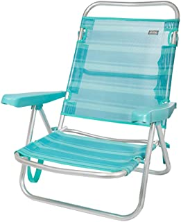 Aktive 53962 Silla multiposición aluminio Beach, 108 x 60 x