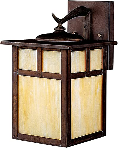 """new arrival Kichler popular 9651CV, Alameda Solid Brass Outdoor outlet sale Wall Sconce Lighting, 100 Total Watts, Canyon View,11.5"""" Height outlet sale"""