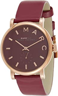 Marc By Marc Jacobs Women's Brown Dial Leather Band Watch - Mbm1267, Analog Display