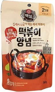 Korea Beksul Sweet and Spicy Topokki Hot Sauce Tteokbokki 떡볶이 Korean Fried Rice Cake 韓国辣年糕醬 5.29oz - total of 4 units