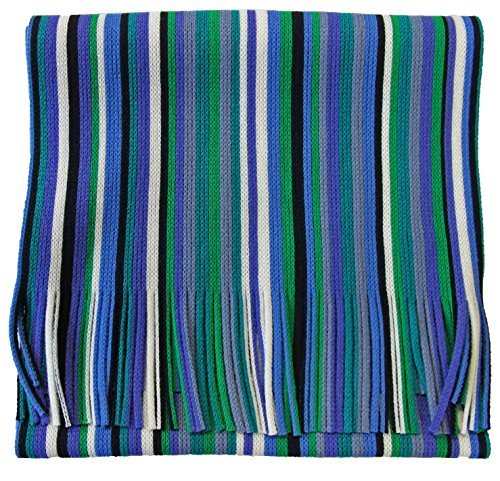 Rotfuchs Echarpe Echarpe en tricot rayé Raschelschal tendance bleu noir vert 100% polyacrylique