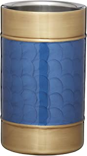 BarCraft Midnight Luxe Wine Cooler with Hand Finished Design, Stainless Steel, Blue