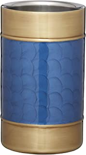 BarCraft BCWCBLUBRS Midnight Luxe Wine Cooler with Hand Finished Design, Stainless Steel, Blue