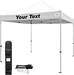 Caravan Custom TitanShade Custom Canopy Kit - 10' x 10' (White) - Personalized Text on One Valance