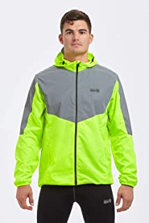 Time To Run Men's 2021 High Visibility Reflective Spirit Lightweight Running Jacket