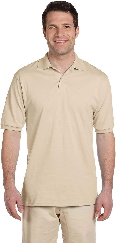 Jerzees Men's Spot Long-awaited Popular overseas Shield Short Sandsto Sport Sleeve Polo Shirt