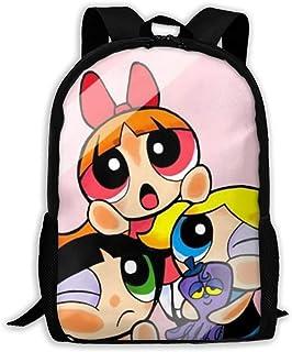 Custom Pink Powerpuff Girls Casual Backpack School Bag Travel Daypack Gift