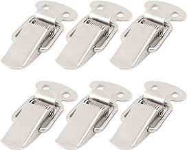 6 stks Veer Geladen Koffer Borst Tool Box Vergrendeling Toggle Latch Hasp Lock Hardware (Color : 304 Stainless Steel)