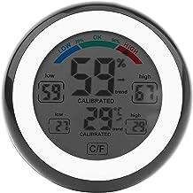 GXT Higrómetro Higrómetro de termómetro Interior, medidor de Humedad Digital con Pantalla LCD Monitor de Humedad de Temperatura para Oficina en el hogar Habitación bebé