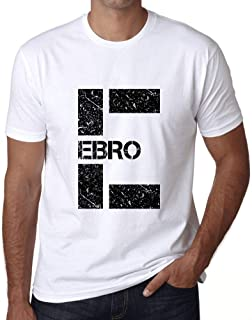 Ultrabasic Men's Graphic T-Shirt Letter E Countries and Cities EBRO White