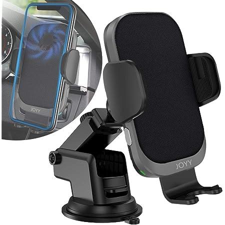 JOYY 車載 Qi ワイヤレス充電器 車載ホルダー スマホホルダー【QI認証済み】 自動開閉 内蔵智能放熱ファン iPhone 12/12 Pro/12Pro Max/se2/11/11 Pro /11Pro Max/XS/XS Max/XR/X / 8 / 8 Plus Android Samsung Galaxy S20 S10/S10+ S9/S9 Plus Note9 Note8 S8、Xperia XZ3 Qi規格または全機種対応 15W/10W/7.5W/5W 対応 日本語説明書付き