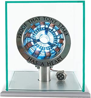 New Version 1:1 Iron Man Arc Reactor MK1,with LED Light, Tony Stark has a Heart Touch Sensitive, No Remote Control Required,Totally Easy Assembly,USB Interface (with Display Case)