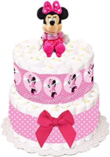 Minnie Mouse Diaper Cake - Small Version