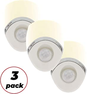 Amerelle Motion Sensor Night Light, 3 Pack – Plug In Motion Sensor Light Automatically Activated When Movement is Detected – LED Lights, Saves Energy, Wide Detection Zone – White Finish, 73092CC