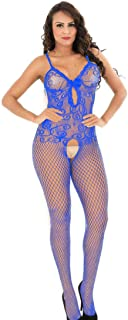 d636e8164 HiSexy Full Body Strappy Fishnet Bodystocking for Women One Piece Bodysuit  Lingerie